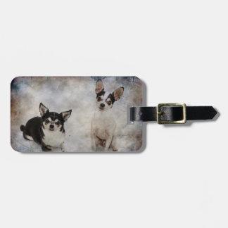 Porträt von Chihuahua zwei Kofferanhänger