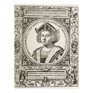 Porträt von Christoph Kolumbus Postkarte