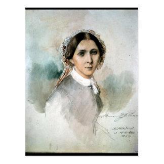 Porträt von Clara Schumann 1853 Postkarte