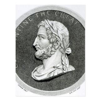 Porträt von Constantine das große Postkarte