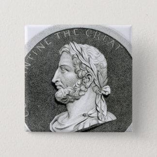 Porträt von Constantine das große Quadratischer Button 5,1 Cm