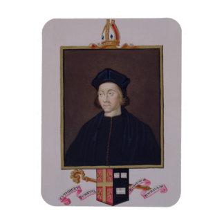 Porträt von Cuthbert Tunstall (1474-1559) Bischof  Eckiger Magnet