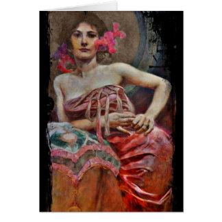 Porträt von Dame Karte