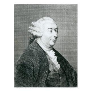 Porträt von David Hume Postkarte