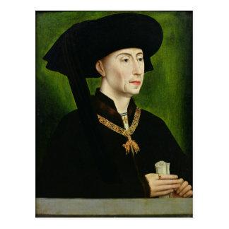 Porträt von De der Burgund Philippe le Bon Duc Postkarte