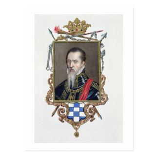 Porträt von De Toledo Ferdinands Alvarez Herzog Postkarte
