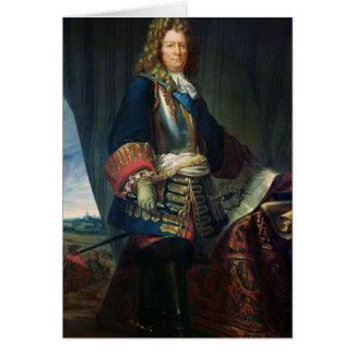 Porträt von De Vauban Sebastien le Prestre Karte