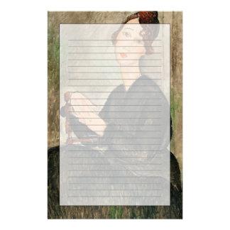 Porträt von Dedie Hayden, 1918 Briefpapier