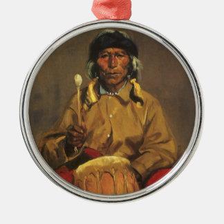 Porträt von Dieguito Roybal durch Robert Henri Silbernes Ornament