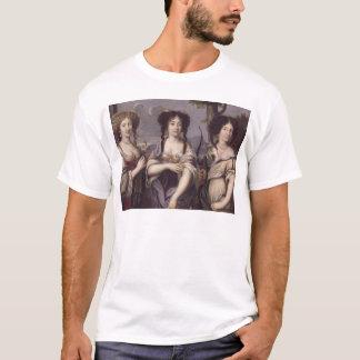 Porträt von drei von Nichten des Kardinals T-Shirt