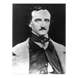 Porträt von Edgar Allan Poe Postkarte