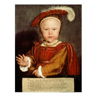 Porträt von Edward VI als Kind c 1538 Postkarte