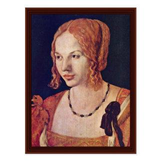 Porträt von einem venezianischen durch Albrecht Postkarte