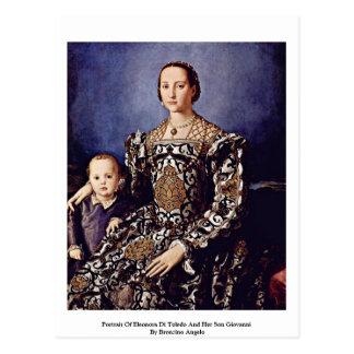 Porträt von Eleonora di Toledo durch Bronzino Postkarte