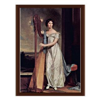 Porträt von Eliza Ridgely (die Dame With The Harp) Postkarte