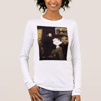 """""""Porträt von Emile Zola Langarm T-Shirt"""