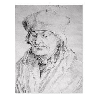 Porträt von Erasmus von Rotterdam 1520 Postkarte