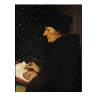 Porträt von Erasmus von Rotterdam Postkarte