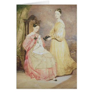 Porträt von Florence Nightingale und von ihr Karte