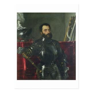 Porträt von Francesco Maria Della Rovere, Herzog Postkarte