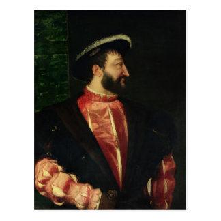 Porträt von Francis I 1538 Postkarte