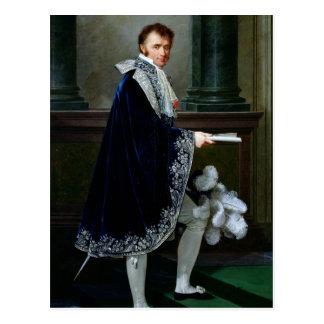 Porträt von Francois-Nicolas Mollien 1806 Postkarte