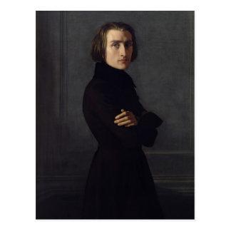 Porträt von Franz Liszt 1839 Postkarte