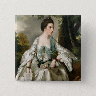 Porträt von Frau Nicholas Ashton, nee Mary Quadratischer Button 5,1 Cm