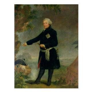 Porträt von Frederick II das große, 1772 Postkarte