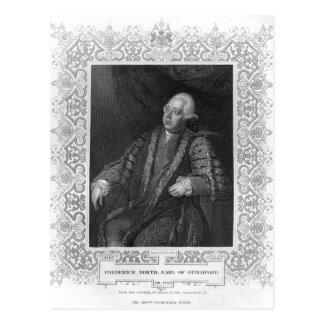 Porträt von Frederick Nord, Graf von Guildford Postkarte