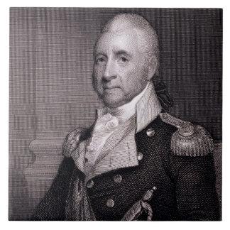 Porträt von Generalmajor-John-Bächen, vorbei gravi Große Quadratische Fliese
