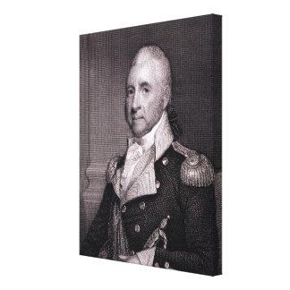Porträt von Generalmajor-John-Bächen, vorbei gravi Leinwanddruck