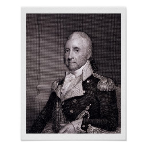 Porträt von Generalmajor-John-Bächen, vorbei gravi Posterdruck