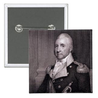 Porträt von Generalmajor-John-Bächen, vorbei gravi Quadratischer Button 5,1 Cm