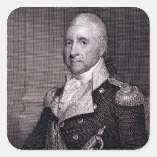 Porträt von Generalmajor-John-Bächen, vorbei Quadrat-Aufkleber