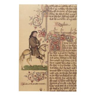 Porträt von Geoffrey- Chaucerfaksimile von Holzdruck