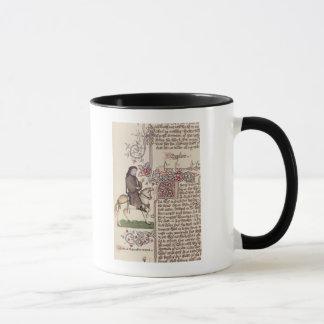 Porträt von Geoffrey- Chaucerfaksimile von Tasse