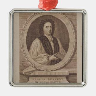 Porträt von George Berkeley-Bischof Quadratisches Silberfarbenes Ornament