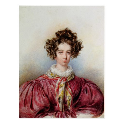 Porträt von George Sand 1830 Postkarte