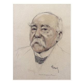 Porträt von Georges Clemenceau Postkarte