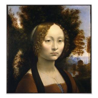 Porträt von Ginevra de Benci durch Leonardo da Vin Kunstfoto