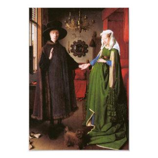 Porträt von Giovanni Arnolfini und seine Ehefrau 8,9 X 12,7 Cm Einladungskarte
