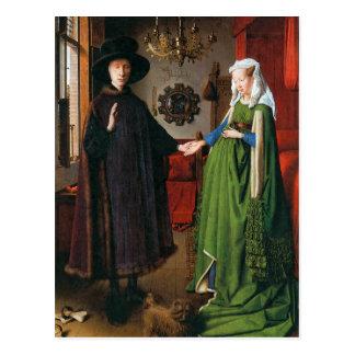 Porträt von Giovanni Arnolfini und seine Ehefrau Postkarte