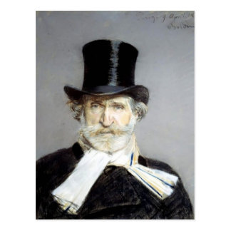 Porträt von Giuseppe Verdi durch Giovanni Boldini Postkarte