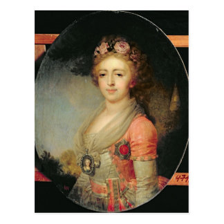 Porträt von Großherzogin Alexandra, c.1798 Postkarte