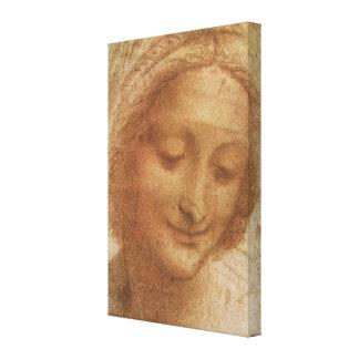 Porträt von Heiliger Anne durch Leonardo da Vinci Leinwanddruck