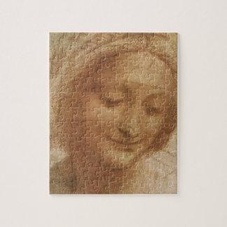 Porträt von Heiliger Anne durch Leonardo da Vinci Puzzle