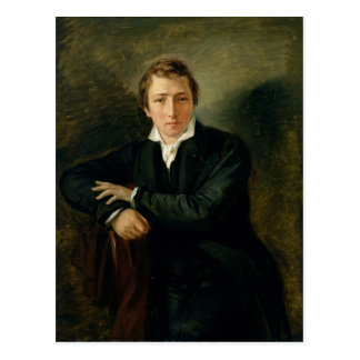 Porträt von Heinrich Heine 1831 Postkarte