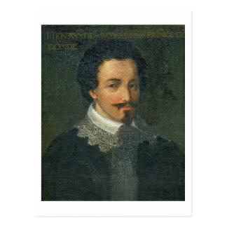 Porträt von Henri I de Bourbon Conde (Öl auf Postkarte