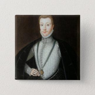 Porträt von Henry Stewart, Graf von Darnley Quadratischer Button 5,1 Cm